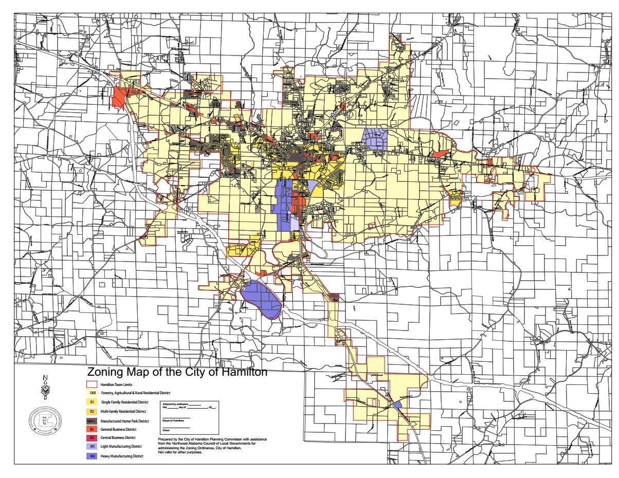 Zoning Map City of Hamilton Alabama